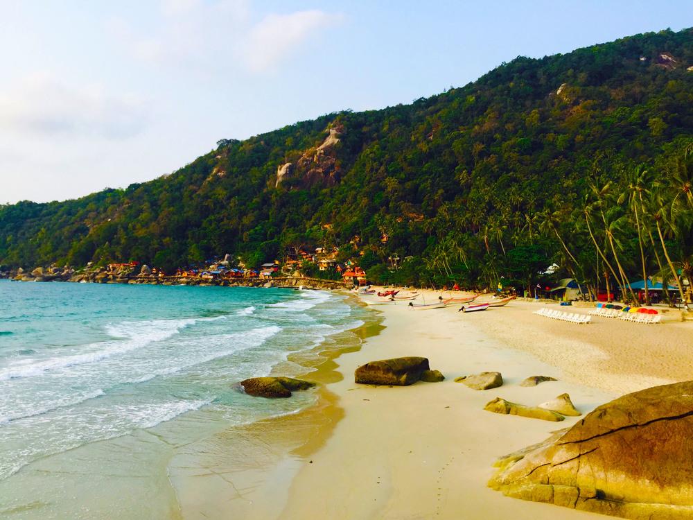 Koh-Phangan-Haad-Yuan-beach koh phangan beach