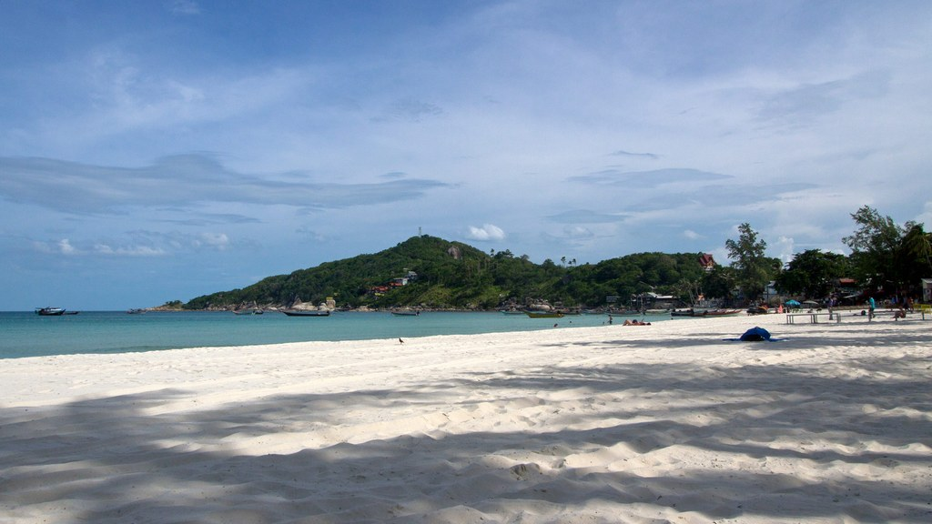 Haad Rin Nok, the beach of the Full Moon Party on Koh Phangan