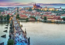 Prague, one of the best honeymoon destinations in Europe.