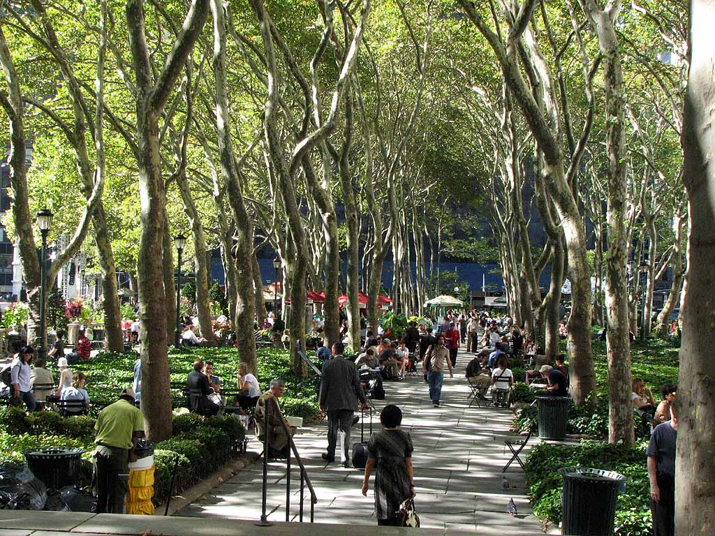 Bryant Park, New York Photo: New York City tourist places blog.
