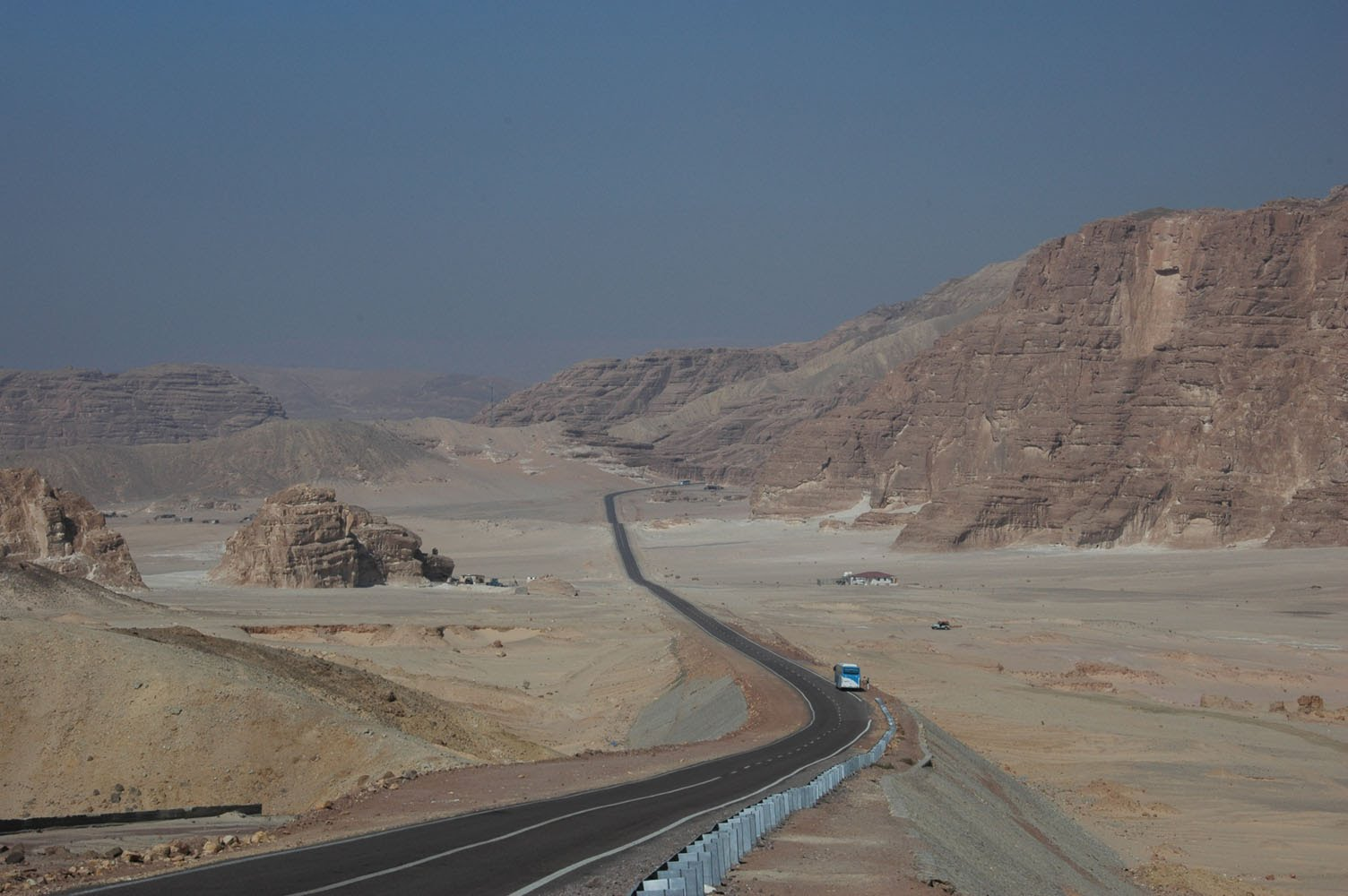 Driving through the Sinai Desert