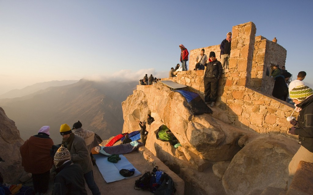 Morning at Mount Sinai peak.