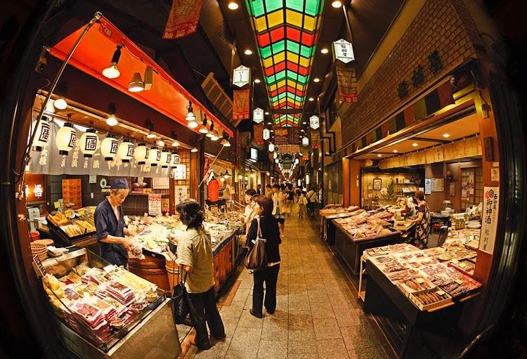 Nishiki market street kyoto things to do in nishiki market for Cherry street fish market