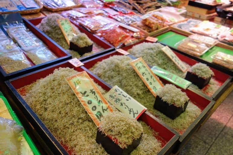 Visiting nishiki market kyoto exploring 400 year old for Cherry street fish market