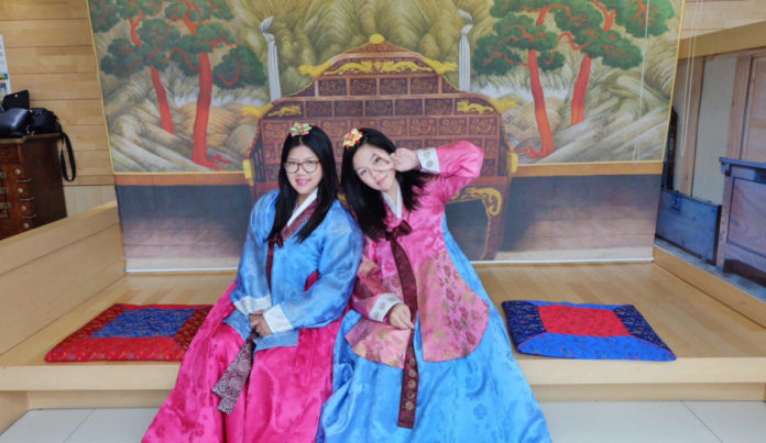 The traditional costume of the land of Kim Chi.
