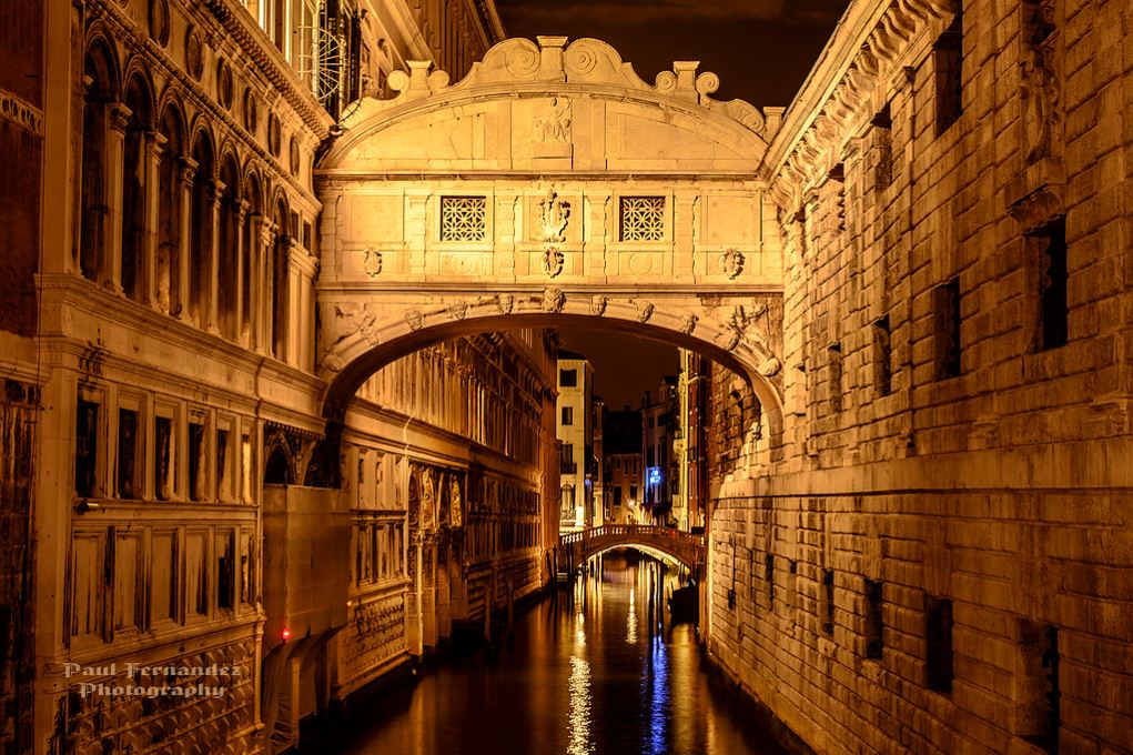 Bridge of Sighs at Night, Venice, Italy