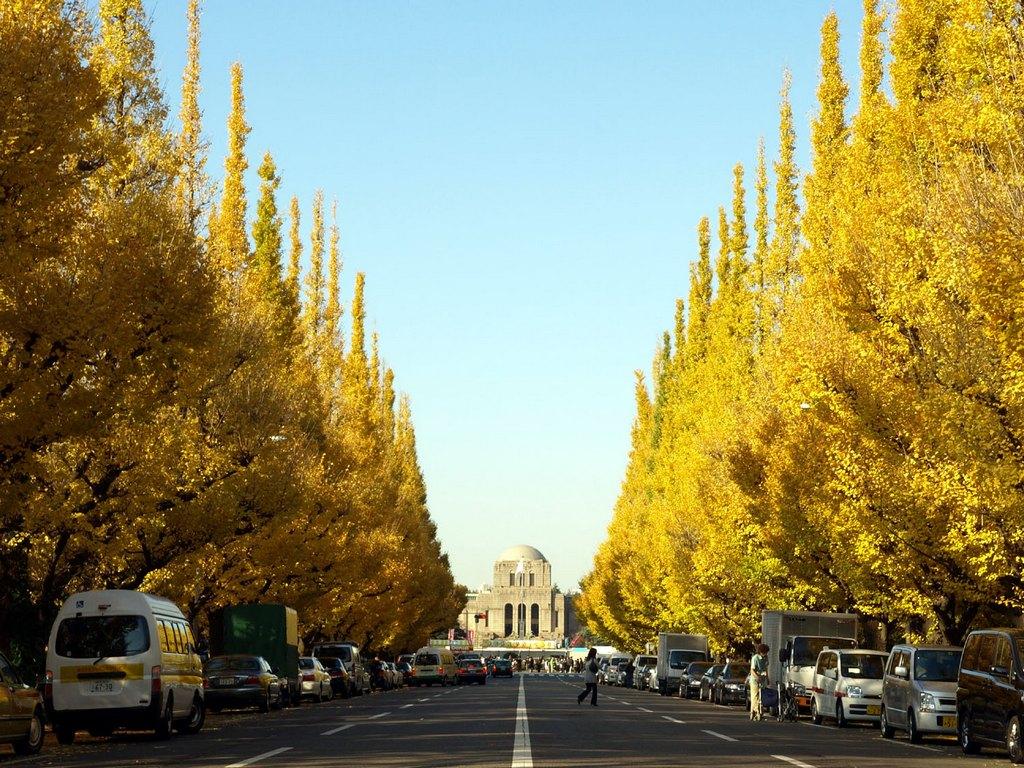 Meiji-jingu Gaien Park entrance