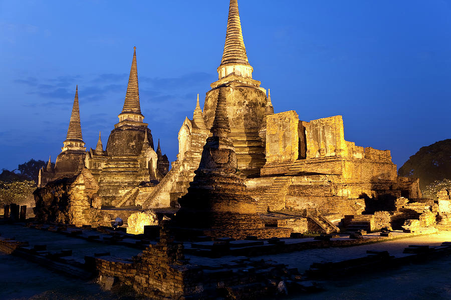 Wat_Phra_Si_Sanphet, Three chedis_temple_Thailand