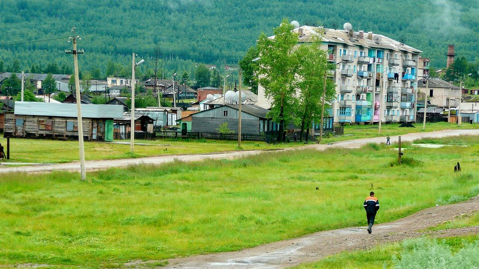Little Town on the Trans Siberian Railway