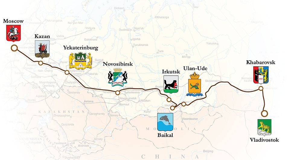 Imperial Train Moscow Vladivostok Trans-Siberian Luxury Train Club route map