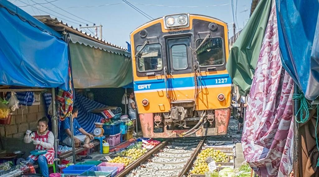 Maeklong Railway Market in Thailand maeklong railway market bangkok maeklong railway market train schedule