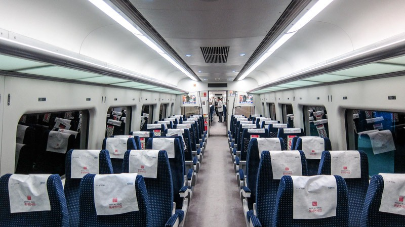 commuter train of incheon airport