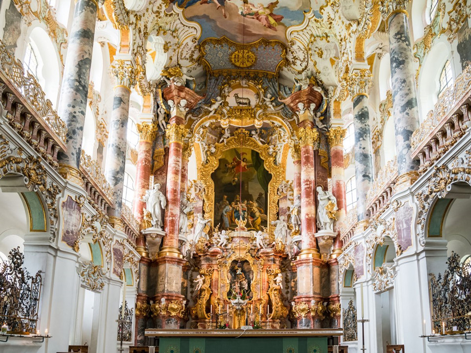 Church of Wieskirche, Steingaden, Germany