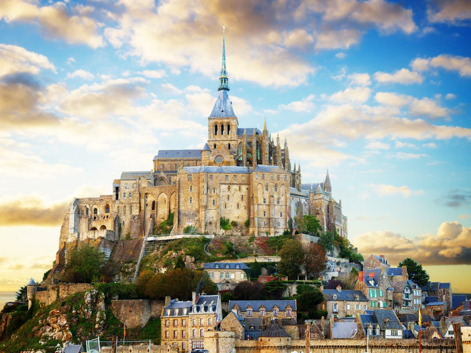 Mont Saint-Michel church, France-4 famous churches in europe beautiful churches in europe