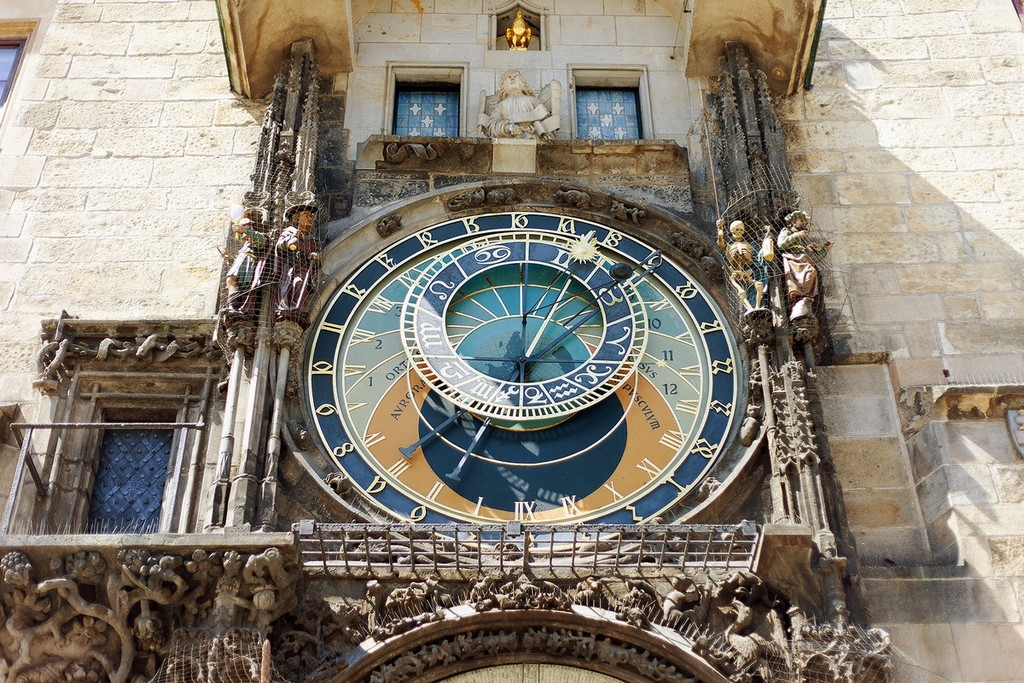 The astrological clock tower in Prague