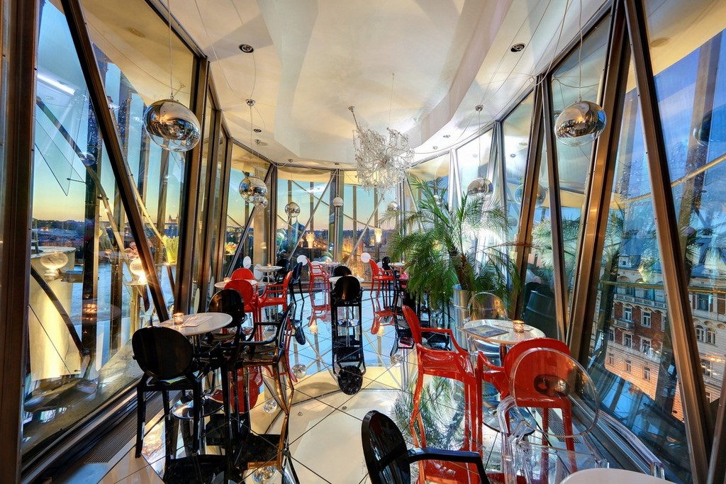 Variety of services can be explored and experienced inside The dancing house