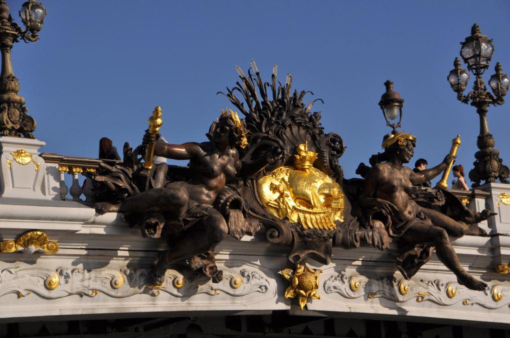 Credit: famous bridge in paris with gold blog.