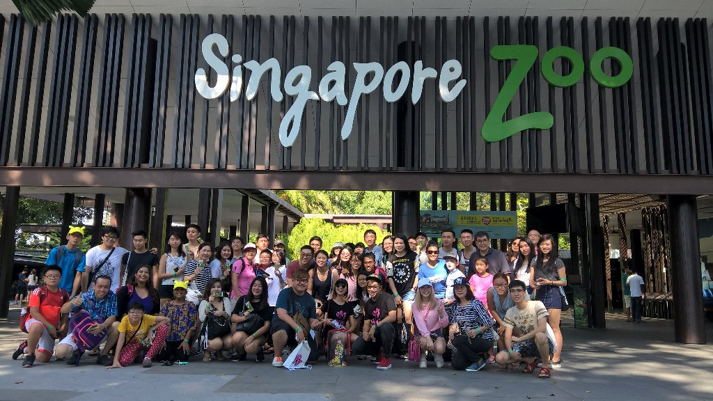 The visitors in Singapore zoo1