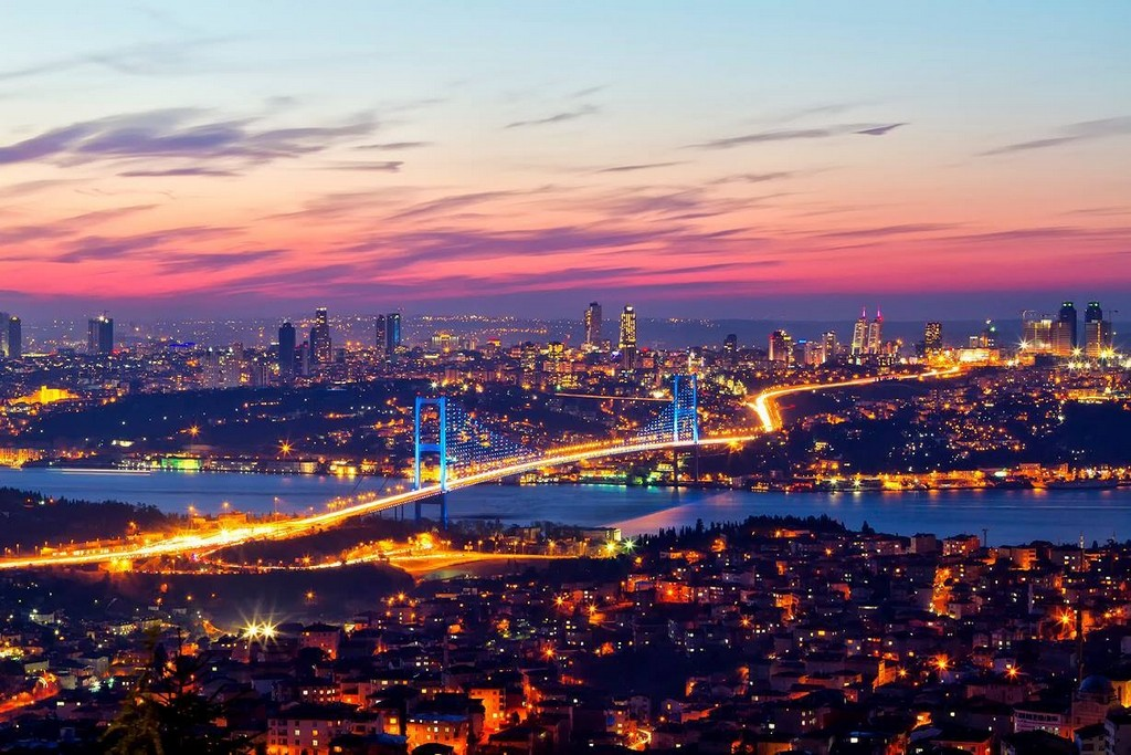 The stunning Bosphorus Bridge at night my trip to istanbul istanbul travel blog 2017