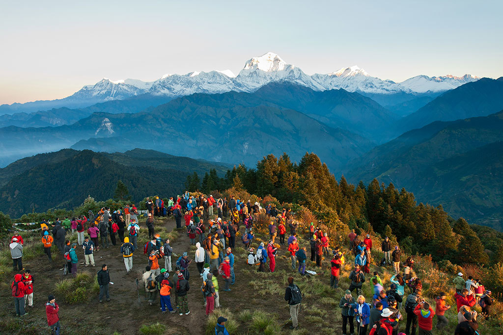 Sunrise view from Ghorepani Poonhill poon hill trekking poon hill trek 4 days poon hill itinerary