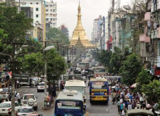 The center of Yangon. (Flickr/Francisco Anzola)