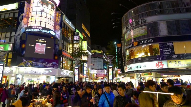 Ximending night market at taipei