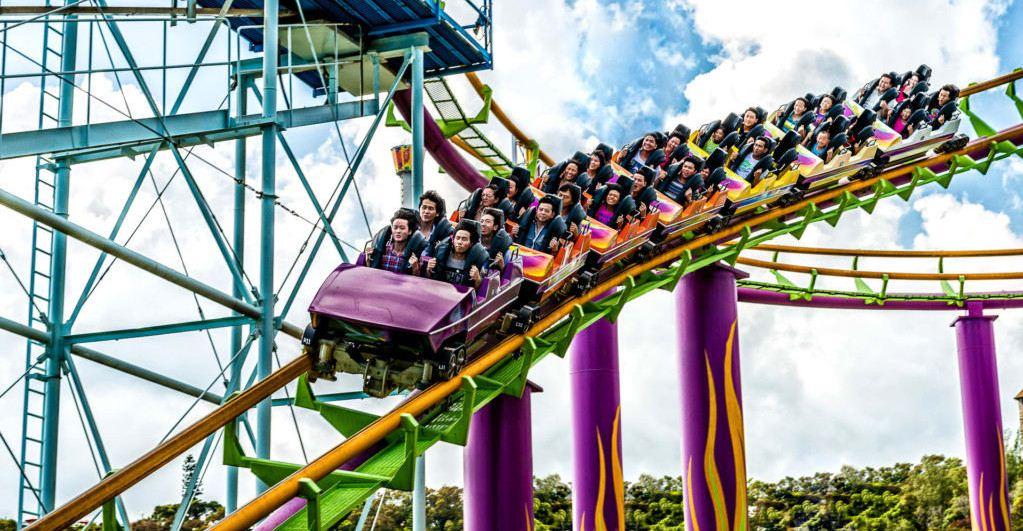 hong kong amusement park roller coaster