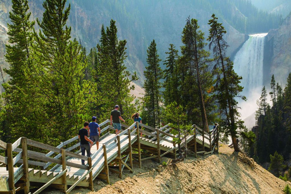 Trail work begins along Grand Canyon of the yellowstone