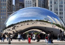 Millennium Park Cloud Gate, Chicago, USA