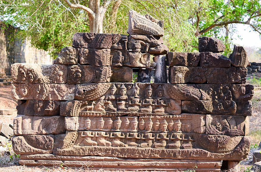 There are other temples in Banteay Meanchey province besides the Banteay Chhmar temple, including Banteay Toap, Preah Chhor and Pram temples.