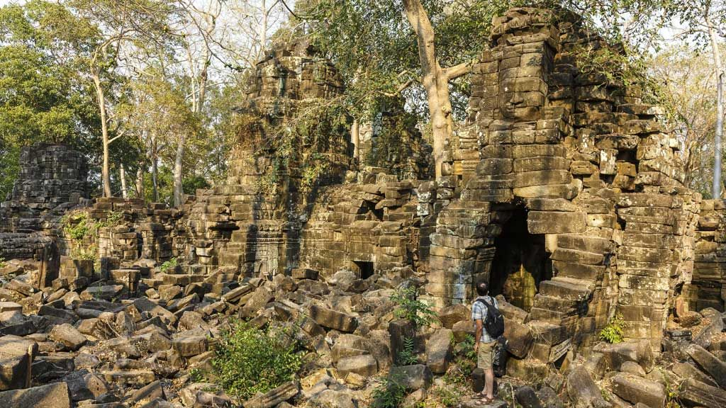 "Banteay Chhmar was built in the 12th century by Khmer king Jayavarman VII. It's believed the name means either ""The Small Citadel"" or ""Narrow Fortress""."