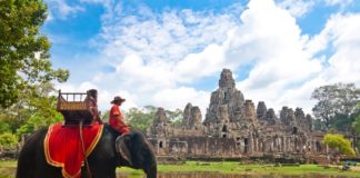 Siem-Reap elephant ride 2
