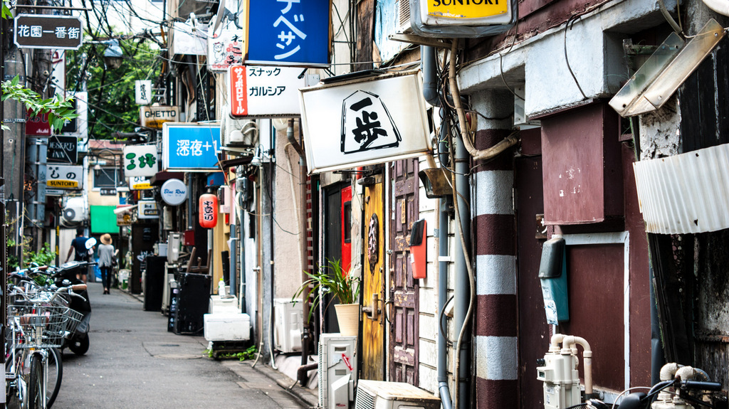 golden gai in the morning