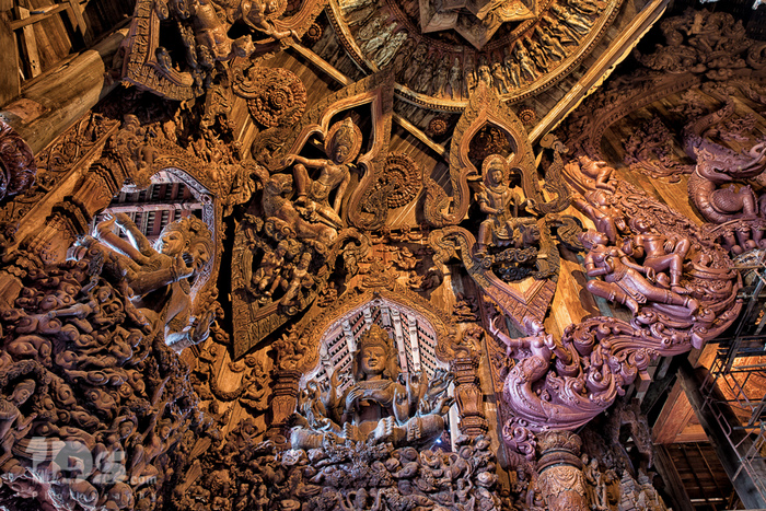 Some Significant carvings and statues inside and outside the Sanctuary