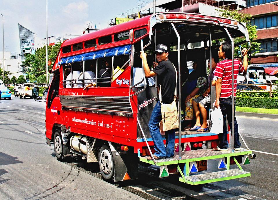Songthaew in pattaya-thailand pattaya travel guide pattaya trip cost pattaya things to do