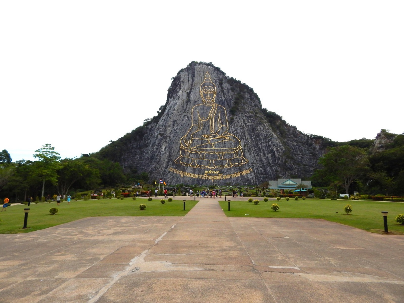 Wat Khao Chee Chan carved buddha mountain