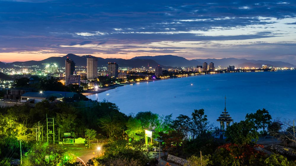 Hua-Hin-Cityscape-at-Twilight-Thailand