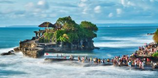 Tanah Lot Temple. One of the best places you must visit in Bali, Indonesia