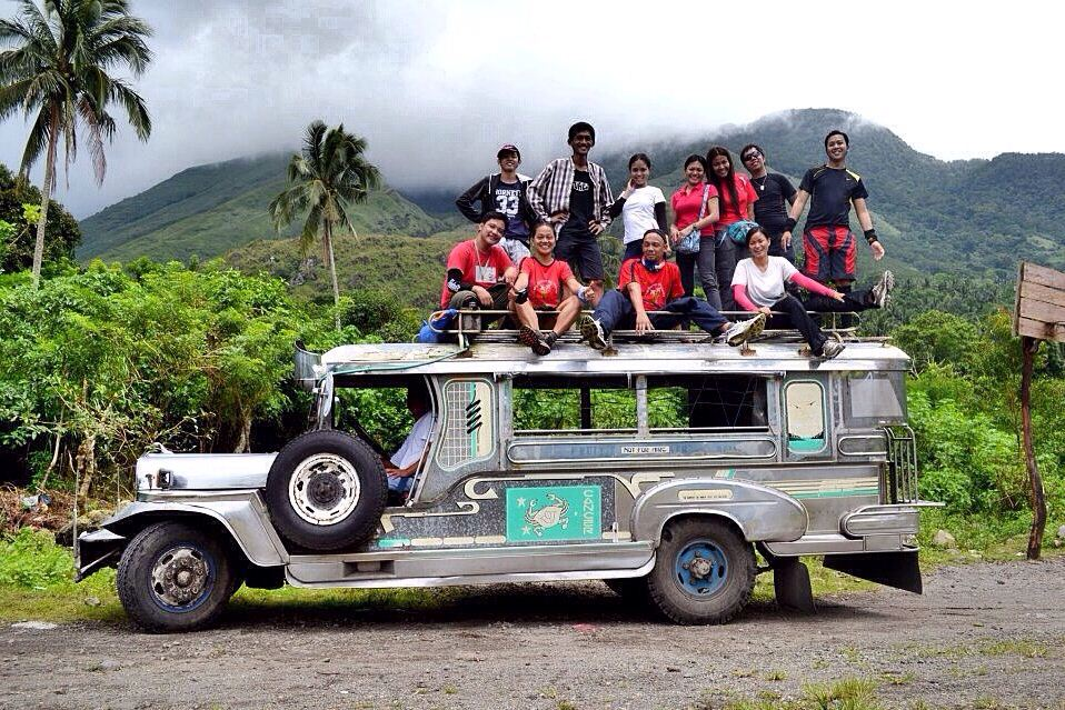It's more fun in the Philippines! Jeepney top load ride
