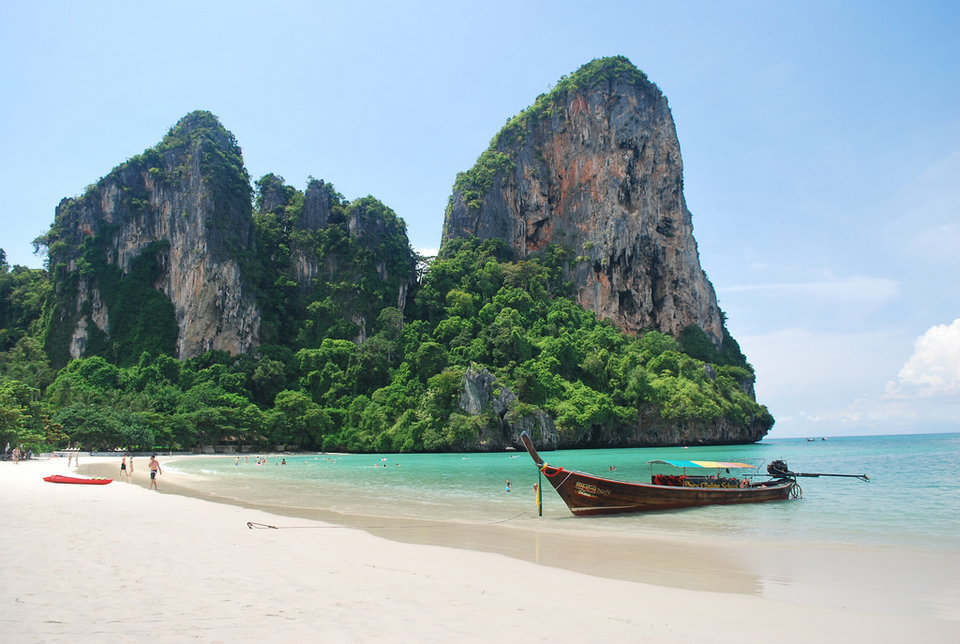 swimming in railay beach2