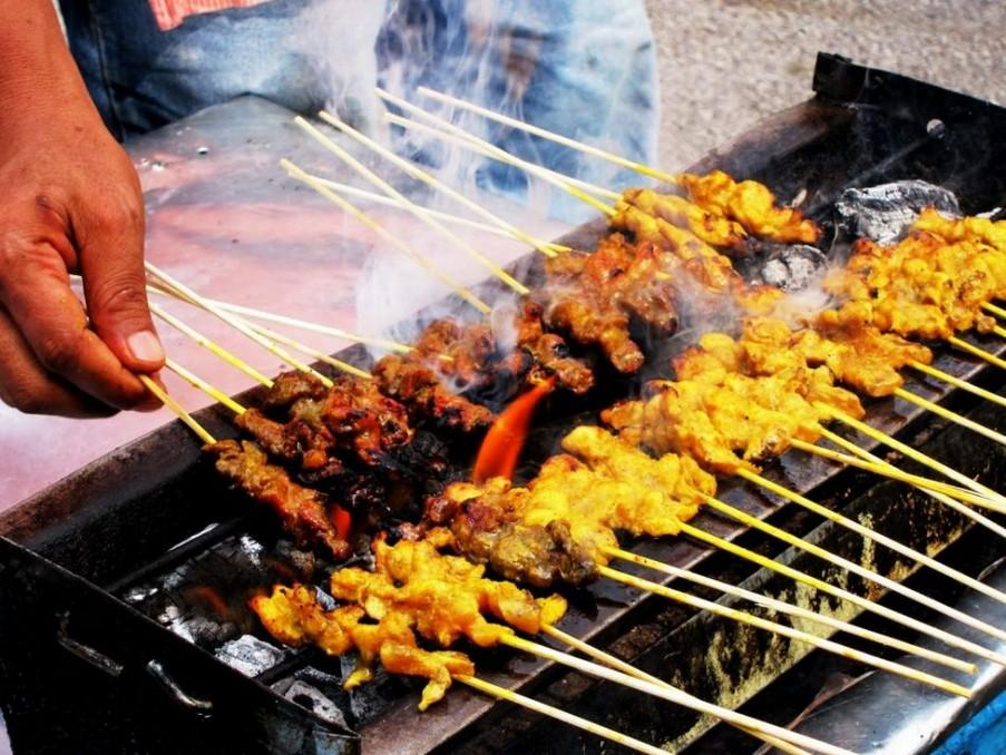 Grilled Satay melaka travel blog malacca travel blog malacca trip blog melaka trip blog