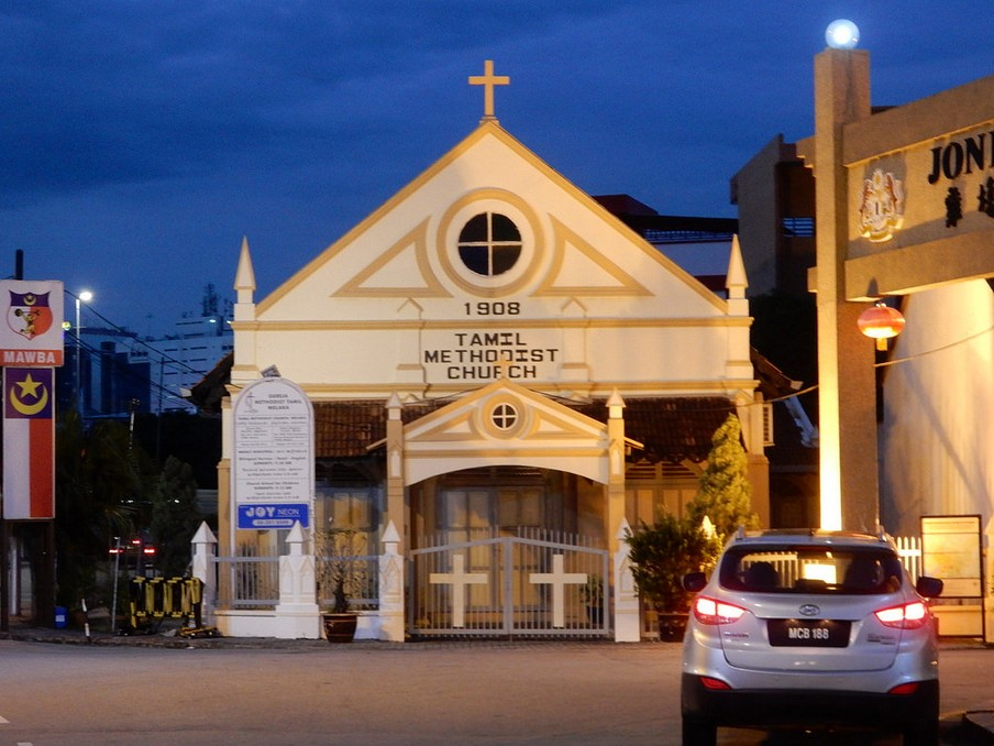 Tamil Methodist Church. Credit image: malacca travel blog.