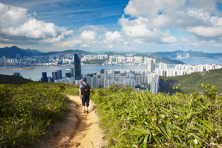 Hong Kong Island Hiking Trails Map