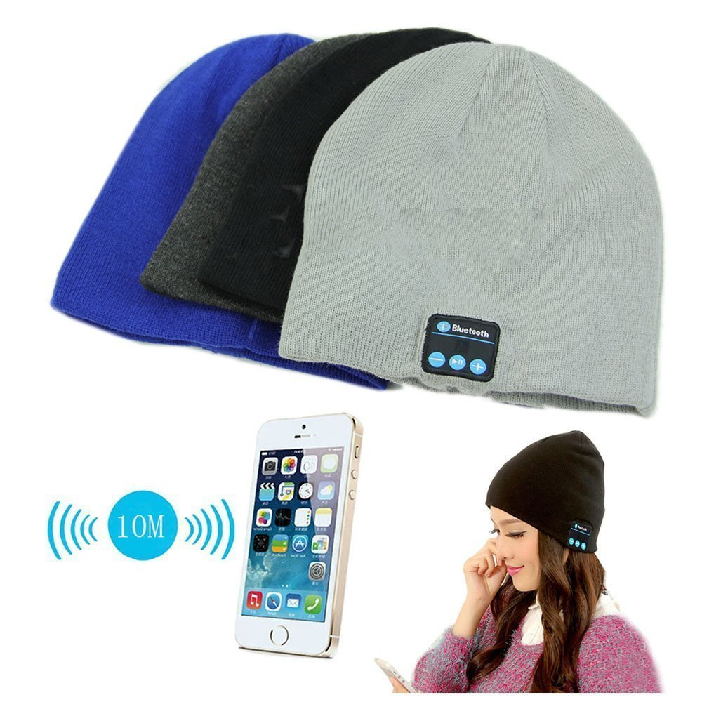 Mens Bluetooth Beanie - Parchment N Lead 2731e92f4cd