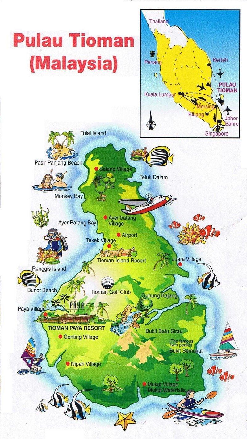 dragon tioman island-malaysia-map tioman island travel blog tioman island travel guide tioman island malaysia