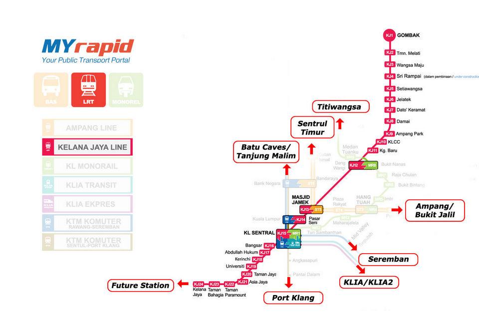 Kelana Jaya route-rapid-train-kuala lumpur lrt kuala lumpur rapidkl lrt route lrt kuala lumpur route kuala lumpur light rail transit