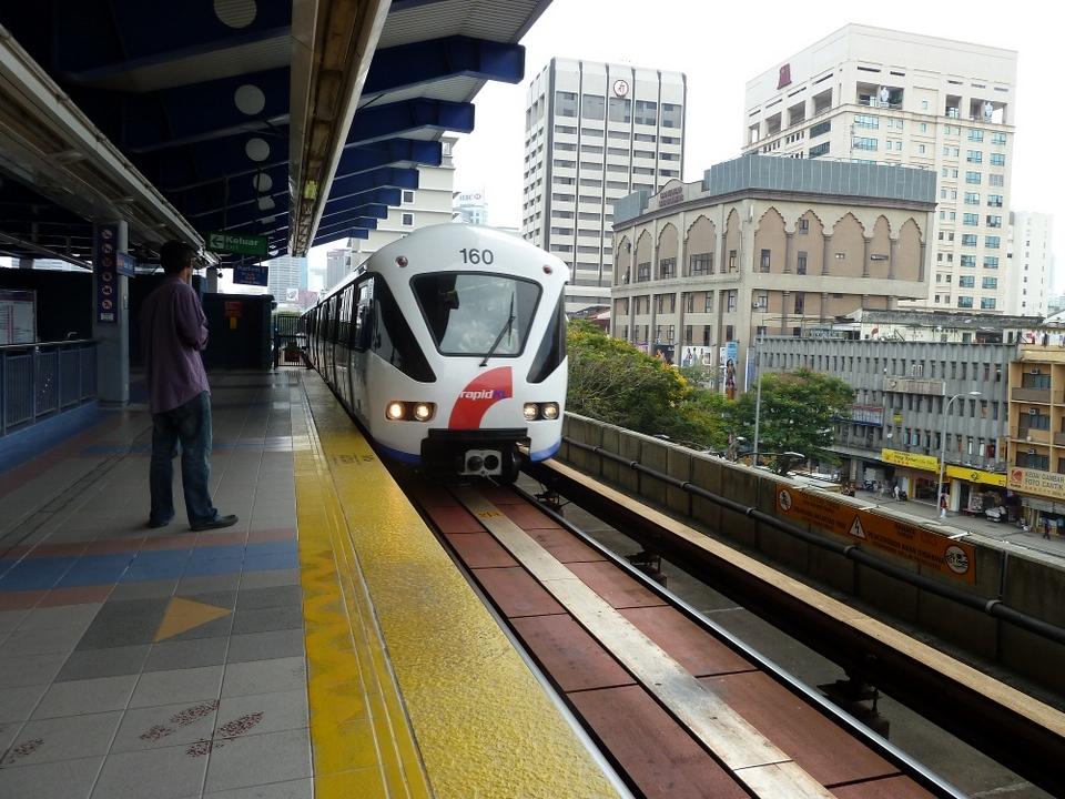 LRT rapid train-kuala lumpur