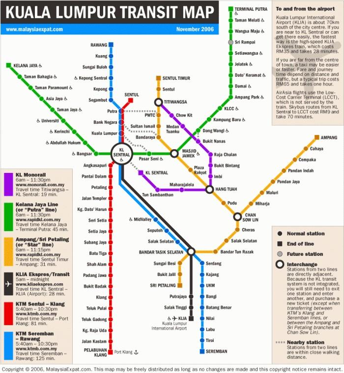 Kuala Lumpur Transit Map