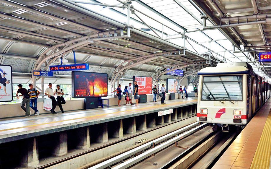 ampang-line-train lrt kuala lumpur rapidkl lrt route lrt kuala lumpur route kuala lumpur light rail transit