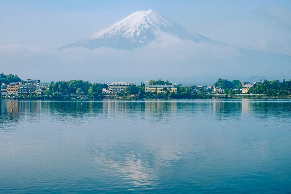 Mt Fuji reflected in Lake Kawaguchi-ko places to visit near mt fuji places to visit near mount fuji mount fuji places to visit mt fuji places to visit